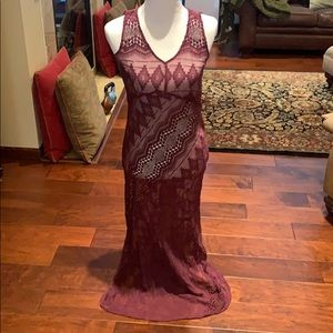 Sundance silk lace maxi dress size 6